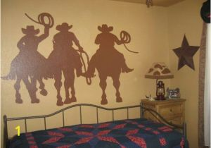 Western Wallpaper Murals Cowboy Silhouette Mural