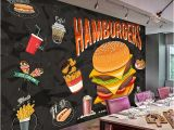 Western Wallpaper Murals Custom Any Size Murals 3d Western Burger Fried Chicken Fast Food
