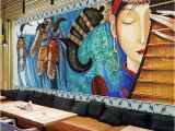 What Paint for Wall Mural Custom Mural Wallpaper Lute Horses Hand Painted Abstract Art Wall Painting Restaurant Cafe Living Room Hotel Fresco Wall Paper Canada 2019 From