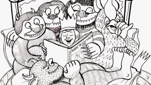 Where the Wild Things are Black and White Coloring Pages where the Wild Things are Coloring Page Coloring Home