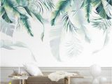 Where the Wild Things are Wall Mural Watercolor Hand Painted Hanging Tropical Leaves Wallpaper Wall Mural