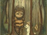 Where the Wild Things are Wall Mural Wild Things Print where the Wild Things are Children Moishe Wall Art