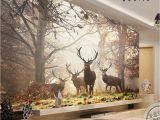 Where's Waldo Wall Mural 3d Mural Wallpaper Sitting Room Bedroom forest Milu Deer