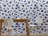 Whimsical Wall Murals Indigo Terrazzo Wallpaper Mural In 2019