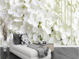 White Flower Wall Mural Custom Wallpaper Mural Wall Sticker Modern Simple White Flower Pearl 3d Stereo Jewelry Wallpaper Hd In Desktop Wallpaper Hd S From Yi20