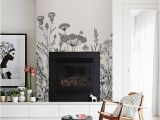 White House Wall Murals Field Flora Removable Wallpaper White Wall Mural