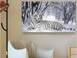White Tiger Wall Mural 2019 White Tiger Landscape Print Canvas Painting Home Decor Canvas Wall Art Picture Digital Art Print for Living Room From Utoart $15 36