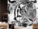 White Tiger Wall Mural Black and White Tiger Wallpapers Living Room Tv Background Wallpaper Papel De Parede Home Decor 3d Room Wallpaper Decoration Backgrounds Wallpapers