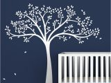 White Tree Wall Mural Tree Wall Decal Monochromatic Fall Tree Extended Gender