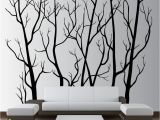 White Tree Wall Mural Wall Vinyl Tree forest Decal Removable 1111
