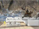 Whitetail Deer Wall Murals Big Deer National Wall Mural Threaded Wallpaper Murals