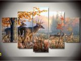 Whitetail Deer Wall Murals Deer In forest Hunters 5 Piece Wall Art Canvas