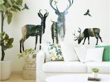 Whitetail Deer Wall Murals forest Deer Wall Stickers Home Decor Living Room Office Decorations