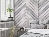 Whitewashed Wood Wall Mural Chevron Grey White Wood Accent Wallpaper Grey White Wood Extra