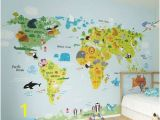 Whole Wide World Wall Mural isabelle & Max Pennie Vintage World Map Hot Air Balloon