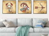 Wild Turkey Wall Murals 5 Pieces Of Cartoon Berserker Armor Gilt Sword Painting Living Room Wall Art Home Decor Print Poster