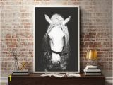 Wild West Wall Murals Black & White Horse Graphy Horse Wall Decor Horse Wall