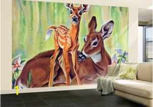 "Wildlife Murals for Walls Doe and Fawn In forest "" June 1 1940by Paul Bransom In 2018"