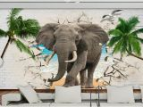 Wildlife Wallpaper Murals 3d Elephant Wallpaper Wall Modern Children Wallpaper Non Woven