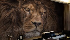 Wildlife Wallpaper Murals Wallpaper Custom 3d Stereo Hd Wildlife Lion Backdrop Wall