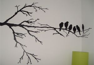 Willow Tree Mural Wall Painting Maybe Just One Branch and One Of the Birds An Accent