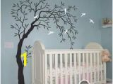 Willow Tree Mural Willow Bird Tree Wall Decals Art Nursery Kids Baby Decor Sticker