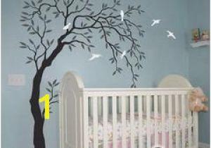 Willow Tree Mural Willow Bird Tree Wall Decals Art Nursery Kids Baby Decor Sticker