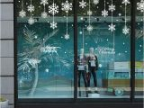 Window Cling Murals Diy White Snow Christmas Wall Stickers Window Glass Festival Decals