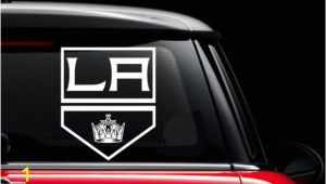 Window Murals for Cars L A Kings Inspired Window Car Decal Hockey Team Inspired Car Decal
