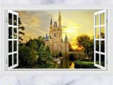 Window Murals for Home 3d Disney Castle Wall Decals & Wall Stickers