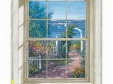 Window Murals for Home Trompe L Oiel Harbor View Wall Accent Mural