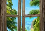 Window Murals for Trucks Beach Cabin Window Mural 8 E Piece Peel and Stick Canvas Wall Mural