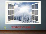 Window Murals for Walls 3d Window forest Landscape Wall Decor Vinyl Sticker Nature