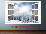 Window View Wall Mural 3d Window forest Landscape Wall Decor Vinyl Sticker Nature