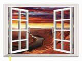 Window View Wall Mural Amazon Scocici Creative Window View Home Decor Wall