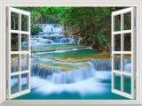 Window View Wall Mural Removable Wall Sticker Wall Mural Beautiful Landscape Of