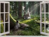 Window Wall Murals Uk Behangrollen 3d Hole In Wall Children Fairytale Enchanted