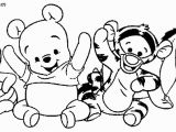 Winnie the Pooh Coloring Pages Disney Clips How to Draw Baby Pooh Bear Easy