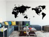 Winnie the Pooh Wall Mural Stencils World Map Handmade Quality Vinyl Wall Decal Sticker