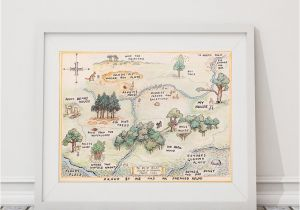 Winnie the Pooh Wall Murals 100 Acre Wood Map Sign Classic Winnie the Pooh Nursery