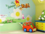 Winnie the Pooh Wall Murals Popular Cartoon Winnie the Pooh Home Decor Baby Kids Room Decoration