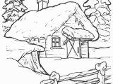 Winter Cabin Coloring Pages Dibujos Para Colorear De Casas De Navidad Navidad De Deseos