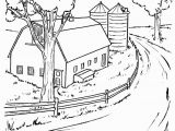 Winter Cabin Coloring Pages Farm Scenes Coloring Page