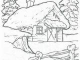 Winter Cabin Coloring Pages Peisaje Iarna Desene Хочу здесь побывать