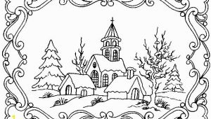 Winter Cabin Coloring Pages Winter Scene Coloring Pages for Adults Google Search