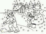 Winter Holiday Coloring Pages Printable Free Printable Winter Scene Coloring Pages Download Free