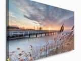 Winter Scene Wall Murals Leinwandbild Seenlandschaft East Urban Home