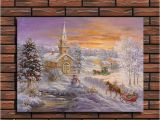 Winter Wonderland Wall Mural Winter Wonderland Decorations Hd Printing Snow Scene Mountain &church Mural Winter theme Party Home Christmas Decoration Indoor Christmas Decorations