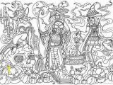 Witch Coloring Pages for Adults Witches Artwork Trace and Color