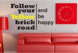 Wizard Of Oz Wall Murals Follow Your Yellow Brick Road Wizard Of Oz Art Wall Decals Wall